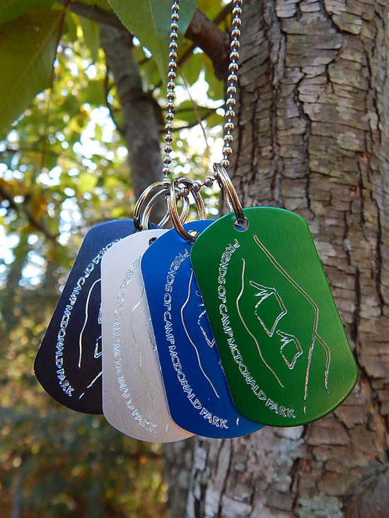 Friends of Camp McDonald Park Dog Tags
